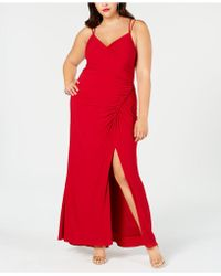Adrianna Papell - Plus Size Ruched Jersey Gown - Lyst