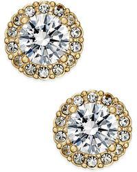 Danori - Gold-tone Crystal Halo Stud Earrings - Lyst