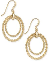 Charter Club - Gold-tone Rope Chain Double Hoop Drop Earrings, Created For Macy's - Lyst