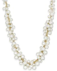 Charter Club | Gold-tone Imitation Pearl Cluster Necklace | Lyst