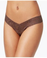 Hanky Panky - Signature Lace Low Rise Thong 4911 - Lyst
