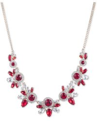 """Givenchy - Crystal Statement Necklace, 16"""" + 3"""" Extender - Lyst"""