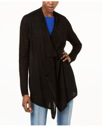 INC International Concepts - I.n.c. Draped Perforated Cardigan, Created For Macy's - Lyst