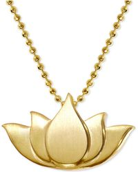 """Alex Woo - Lotus Blossom 16"""" Pendant Necklace In 14k Gold - Lyst"""