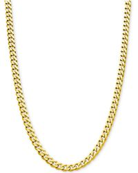 "Macy's - Flat Curb Link Chain 24"" Necklace (8-7/8mm) In 18k Gold-plated Sterling Silver - Lyst"