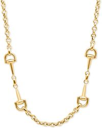 Macy's | Double Handle Rolo Link Collar Necklace In 14k Gold | Lyst