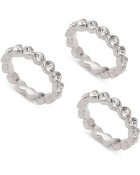 Givenchy - Set Of 3 Pave Crystal Rings - Lyst
