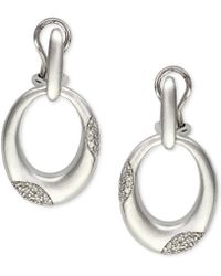 Effy Collection - Diamond Door Knocker Drop Earrings (1/3 Ct. T.w.) In Sterling Silver & 18k Gold - Lyst