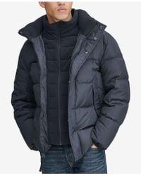 Marc New York - Down Puffer Jacket With Fleece Bib - Lyst