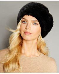 The Fur Vault - Knitted Mink Fur Headband - Lyst