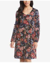 Karen Kane - Harper Printed Blouson-sleeve Dress - Lyst