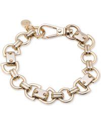 DKNY - Gold-tone Link Bracelet - Lyst