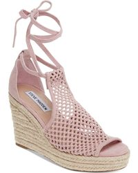 da5174b17c2c Lyst - Tommy Hilfiger Faye Espadrille Wedges in Brown