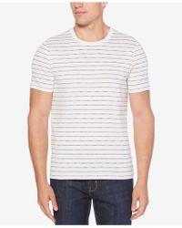 Perry Ellis - Striped Cotton T-shirt - Lyst