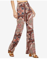 BCBGeneration - Paisley Hypnosis Flared-leg Pants - Lyst