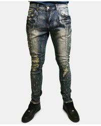 Heritage America - Ripped Bleached Jeans - Lyst