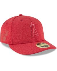 a58ac2ec5e89a3 KTZ - Los Angeles Angels Clubhouse Low Crown 59fifty Fitted Cap - Lyst