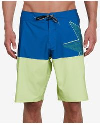 Volcom - Lido Athletic-fit Colorblocked Logo-print Boardshorts - Lyst