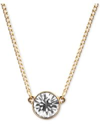 Givenchy - Necklace, Silver-tone Small Swarovski Element Pendant Necklace - Lyst