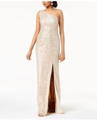 87816a85 Adrianna Papell Embroidered Mesh Gown in Blue - Lyst