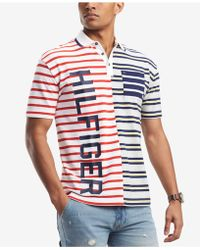 Tommy Hilfiger - Paolo Striped Pieced Logo Polo, Created For Macy's - Lyst