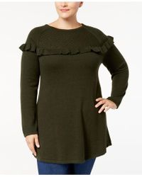 Style & Co. - Plus Size Ruffled Tunic Sweater - Lyst