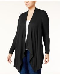 INC International Concepts - Plus Size Draped Cardigan - Lyst