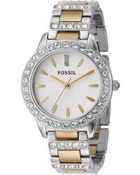 Fossil - Women's Jesse Two Tone Stainless Steel Bracelet Watch 34mm Es2409 - Lyst