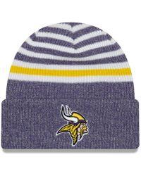 Lyst - Ktz Minnesota Vikings Striped Cuff Knit Hat in Gray for Men be0a78ee0
