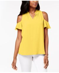Charter Club - Seamed Cold-shoulder Top, Created For Macy's - Lyst