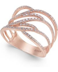 Effy Collection - Diamond Ring In 14k Rose Gold (3/8 Ct. T.w.) - Lyst