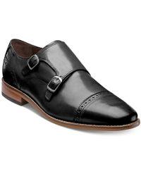 59ca3787f5d Lyst - Gordon Rush Copley Double Monkstrap Cap Toe Leather Oxfords ...