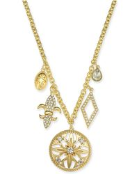 """Charter Club - Gold-tone Crystal Charm Pendant Necklace, 32"""" + 2"""" Extender, Created For Macy's - Lyst"""
