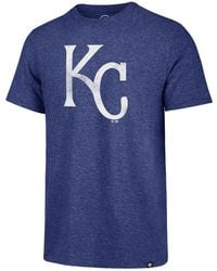 47 Brand - Los Angeles Dodgers Coop Triblend Match T-shirt - Lyst