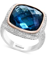 Effy Collection - Balissima By Effy® London Blue Topaz Ring (12 Ct. T.w.) In Sterling Silver & 18k Rose Gold - Lyst