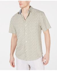 Tommy Bahama - Pacific Regular-fit Geometric Silk Camp Shirt - Lyst