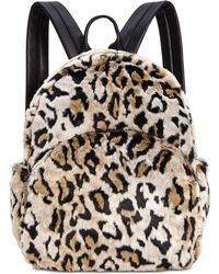 Betsey Johnson - Faux Fur Backpack - Lyst
