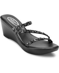 Callisto - Shana Wedge Sandals - Lyst