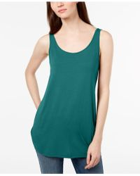 Eileen Fisher - Stretch Jersey Scoop-neck Tank Top - Lyst