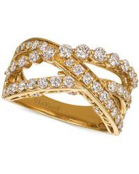 Le Vian - Diamond Crisscross Ring (1-1/3 Ct. T.w.) In 14k Gold Or Rose Gold - Lyst
