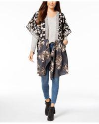 Steve Madden - In Full Bloom Draped Kimono - Lyst