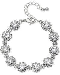 Badgley Mischka - Crystal Cluster Link Bracelet - Lyst