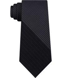 DKNY - Variegated Micro Panel Slim Silk Tie - Lyst