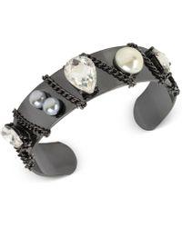 INC International Concepts | Crystal Chain Cuff Bracelet | Lyst