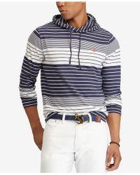 Polo Ralph Lauren - Striped Hooded Long-sleeve T-shirt - Lyst