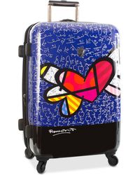"Heys - Britto Heart With Wings 26"" Expandable Hardside Spinner Suitcase - Lyst"