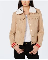Tommy Hilfiger - Faux-suede Trucker Jacket, Created For Macy's - Lyst