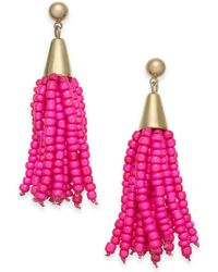 INC International Concepts - I.n.c. Gold-tone Bead Fringe Drop Earrings, Created For Macy's - Lyst