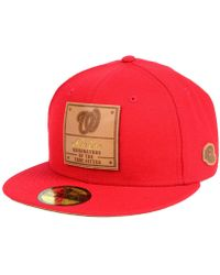 461ee0b5393 KTZ - Washington Nationals Vintage Team Color 59fifty Fitted Cap - Lyst