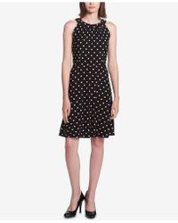 Tommy Hilfiger - Polka Dot A-line Dress - Lyst